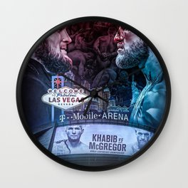 Khabib vs McGregor Wall Clock