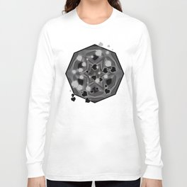 Ace of spades and star mandala Long Sleeve T-shirt