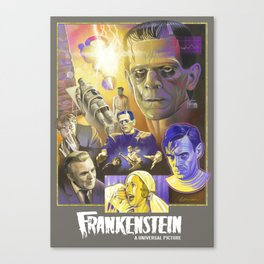 """FRANKENSTEIN"" (1931) Tribute Poster Canvas Print"