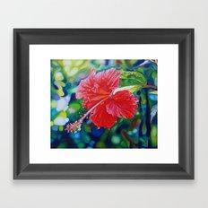 Tropical Hibiscus Framed Art Print