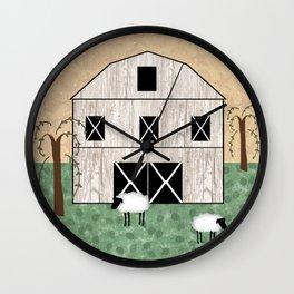 Primitive Barn Wall Clock