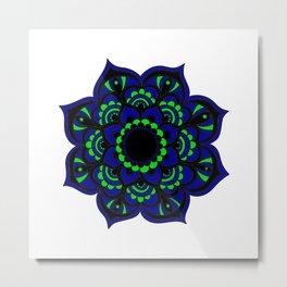 Peacock flower | Mandala Metal Print