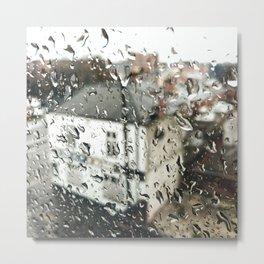 Uk bulding on a rainy day  Metal Print