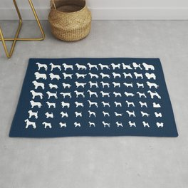All Dogs (Navy) Rug