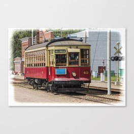 Trolley Car at the Fort Edmonton Museum in Edmonton Canvas Print