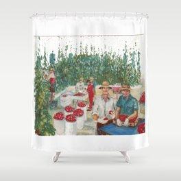 Tomato Growers,Australia             by Kay Lipton Shower Curtain