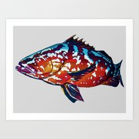 boss Art Prints featuring Boss by Bocese