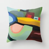 community Throw Pillows featuring the community by sylvie demers