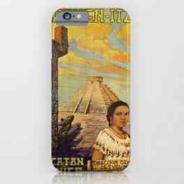 chichen - itza  oude poster iPhone Case