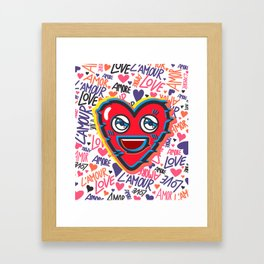 LOVE BEAT Framed Art Print