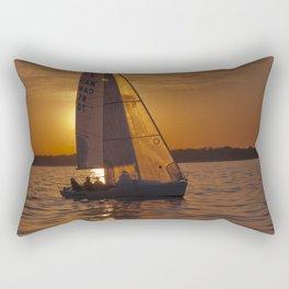 Sail into the sunset Rectangular Pillow
