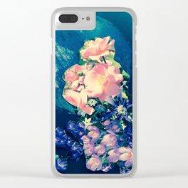 Garden Circle - Navy Clear iPhone Case