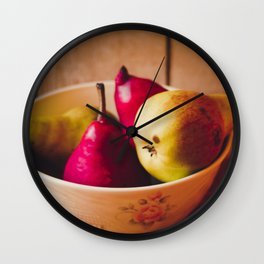 Pears II Wall Clock