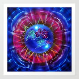 Abstract in perfection - Fertile Imagination Rose 2 Art Print