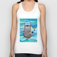 rubyetc Tank Tops featuring stripy fella by rubyetc
