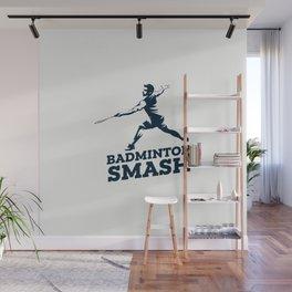 Badminton Player Wall Mural