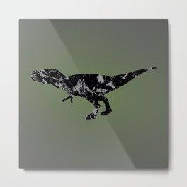T-rex - black and gray Metal Print