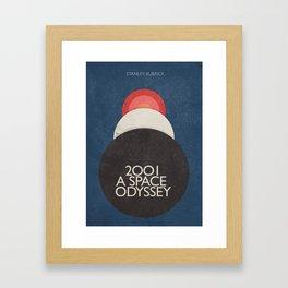 2001 a Space Odyssey, Stanley Kubrick alternative movie poster, dark blue  classic film, cinema love Framed Art Print