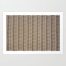 Closeup rattan wickerwork texture Art Print