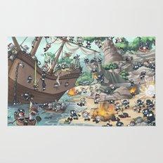 PiratesVSNinjas Rug
