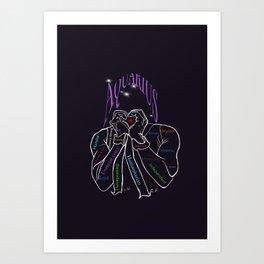 Aquarius- zodiac- characterisitcs Art Print