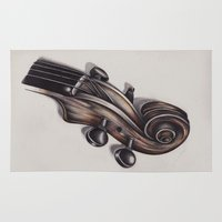 violin Area & Throw Rugs featuring violin by Buffy Ino Kua