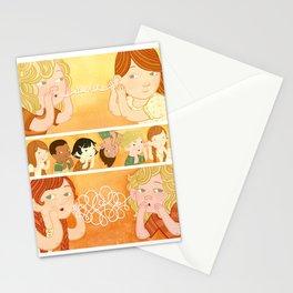 Telephone Trio Stationery Cards
