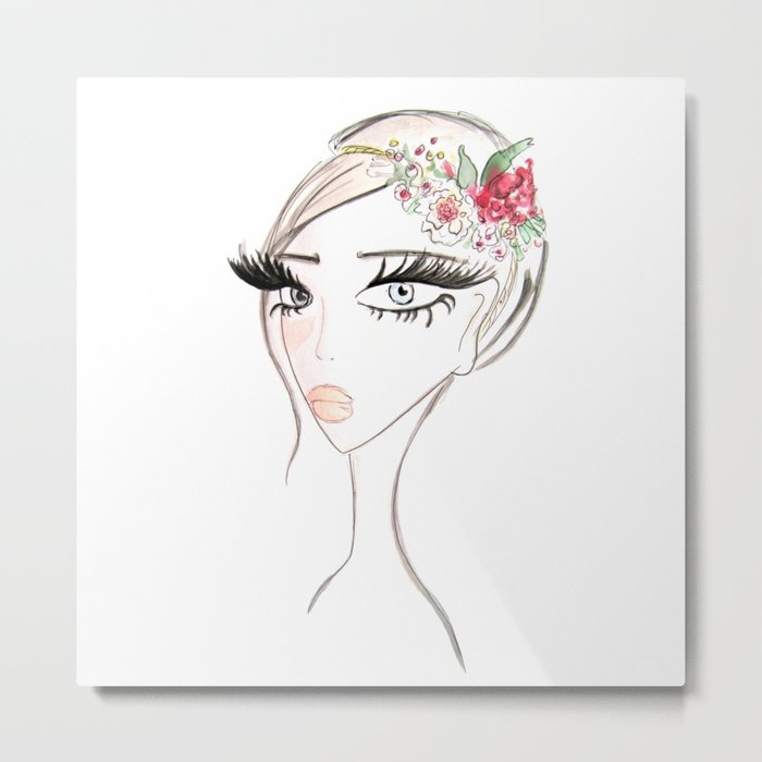 Flowers in  the hair Metal Print