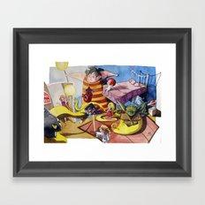 Friends´s meeting Framed Art Print