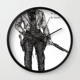 To Haunt Us Wall Clock