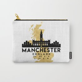 MANCHESTER ENGLAND SILHOUETTE SKYLINE MAP ART Carry-All Pouch