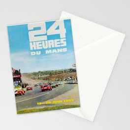 1965 Le Mans poster, Race poster, car poster, garage poster Stationery Cards