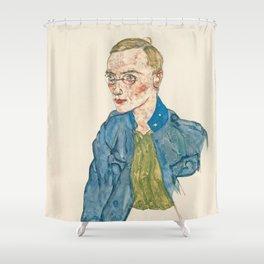 """Egon Schiele """"One-Year Volunteer Lance-Corporal"""" Shower Curtain"""