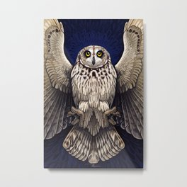 Owl Deck: Cover Art Metal Print