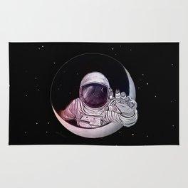 Astronaut Moon Rug