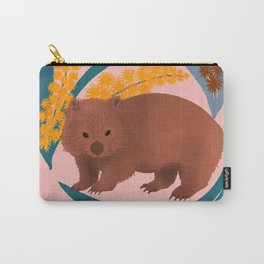 Wombat and Mimosa (aka waddle and wattle) Carry-All Pouch