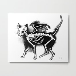 Devil Kitty Metal Print