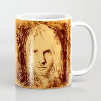 kurt cobain Mugs featuring 27 Club - Cobain by MUSENYO