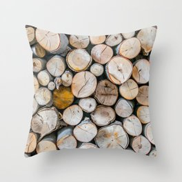 Logged Throw Pillow