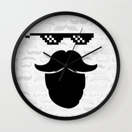 Thug Mustache Wall Clock