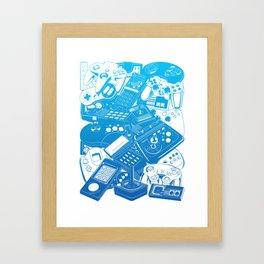 Joysticks & Controllers Framed Art Print