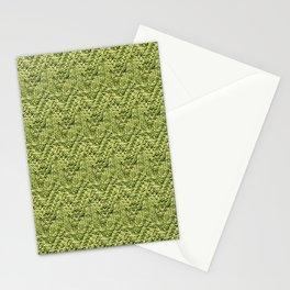 Green Zig-Zag Knit Stationery Cards