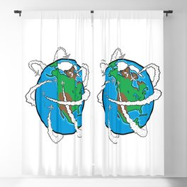 Jets Circling the Globe Blackout Curtain