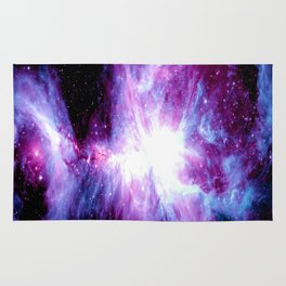 Orion Nebula Purple Periwinkle Blue Galaxy Rug