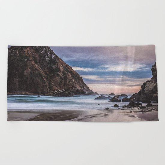 The Ocean Stirs The Heart Beach Towel