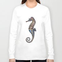 seahorse Long Sleeve T-shirts featuring Seahorse by SilviaGancheva