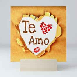 Te amo Broken paper Mini Art Print