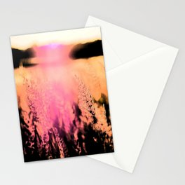 field during sunset Stationery Cards