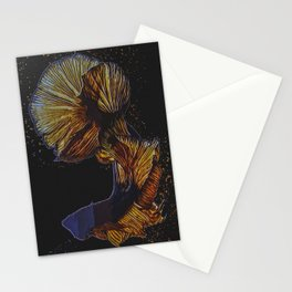Betta Fish Abstract Stationery Cards