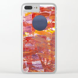 Setting Moon Clear iPhone Case